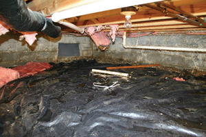 Crawl Space Repair Before in Lynchburg