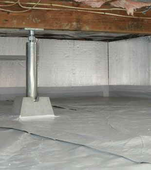 Installed crawl space insulation in Forest