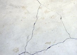 cracks in a slab floor consistent with slab heave in Radford.