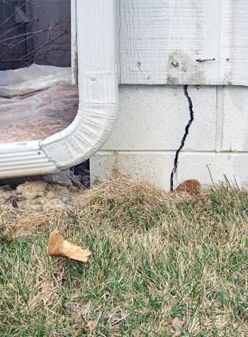 foundation wall cracks due to street creep in Stuarts Draft