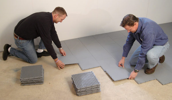 Basement flooring systems