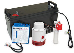 a battery backup sump pump system in Staunton