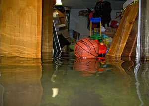 Flooded basement in Lynchburg